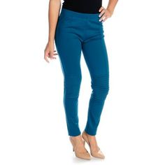 WD.NY Stretch Knit Elastic Waist Pin Tuck Detailed Pull-on Leggings