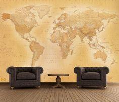 Old Map Wallpaper Mural Wallpaper Mural