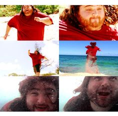 """Hurley: """"I wanna do a cannonball. I've been walking up and down this beach every day and looking out at this water. And I wanna do a cannonball.""""   Bernard: """"Hurley, you wanna do a cannonball? Cannonball."""" LOVE this!!"""