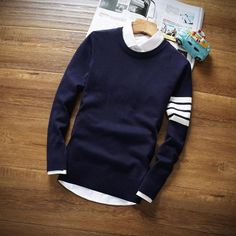 Cheap brand men sweater, Buy Quality fashion men sweater directly from China men brand sweater Suppliers: 2017 Brand Casual Sweater men New Autumn Fashion O-Neck Slim Fit Knitting Mens Sweaters And Pullovers Men Pullover high quality Stylish Mens Fashion, Mens Fashion Blog, Knit Fashion, Fashion Outfits, Man Fashion, Mens Fashion Sweaters, Casual Sweaters, Men Sweater, Mens Striped Sweater