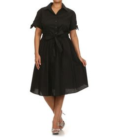Another great find on #zulily! Black Shirt Dress - Plus by Tropical Wear #zulilyfinds