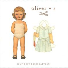 Shop | Category: Garment Sewing - Children | Product: Oliver + S - Jump Rope Dress 6M-3T