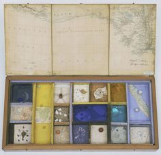 Object (Roses des vents) Joseph Cornell - Object (Roses des vents), Medium:Wood box with compasses set into a wood tray containing small miscellaneous objects, with hinged lid lined with maps Joseph Cornell Boxes, Assemblage Art, Box Art, Art Boxes, Aboriginal Art, Box Design, Oeuvre D'art, Altered Art, Collage Art