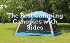 I often go camping, and to save weight, I use a small light tent, but it is a little cramped, so I wondered what camping canopies with sides are available to make camping a little more comfortable. After a little research, I found plenty of different canopies, from small lightweight sun shelters to full-size gazebos more suited to the garden. The choice depends on how you intend to use the canopy, so we picked several very different styles for our list of the best camping canopies with… Camping Canopy, Go Camping, Tent, Canopy With Sides, Canopies, Shelters, Outdoor Gear, Gazebo, Good Things
