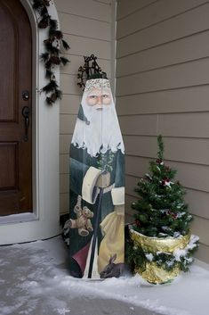 Christmas Yard Art, Christmas Wood Crafts, Primitive Christmas, Father Christmas, Christmas Signs, Christmas Projects, Holiday Crafts, Christmas Holidays, Christmas Hallway