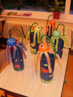 Octopus Diy Crafts For Kids, Octopus, Paper Lanterns, Water, School, Calamari, Squidbillies