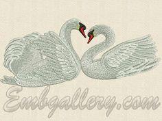 """Swans' faithfulness"" | Machine embroidery design"