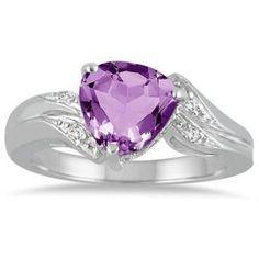 https://ariani-shop.com/225-carat-trillion-cut-amethyst-and-diamond-ring-in-10k-white-gold 2.25 Carat Trillion Cut Amethyst and Diamond Ring in 10K White Gold