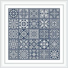 Twenty five Square Insertions cross stitch Filet Lace Quilt Square Patterns, Mosaic Patterns, Square Quilt, Beading Patterns, Cross Stitch Bookmarks, Cross Stitch Charts, Cross Stitch Patterns, Cross Stitch Borders, Embroidery Art