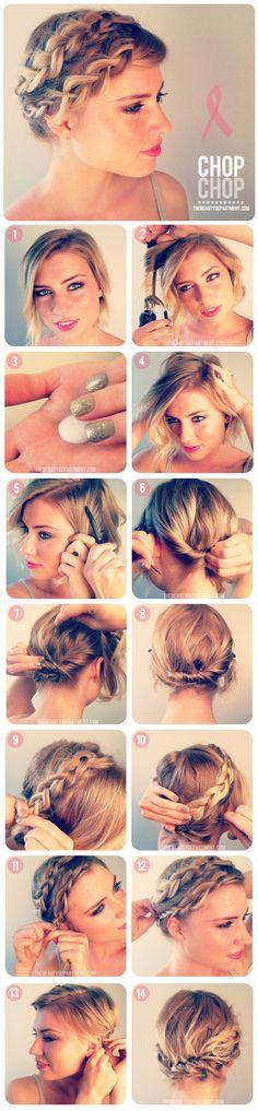 """Blog """"La mariée décomplexée"""" coiffure de mariage pour cheveux court"""