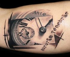 Abstract Time Tattoo by Proki Tattoo?