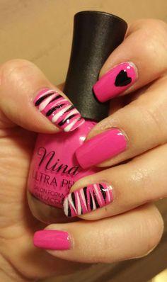 Valentine's day nails design