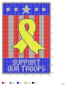 SUPPORT OUR TROOPS WALL HANGING