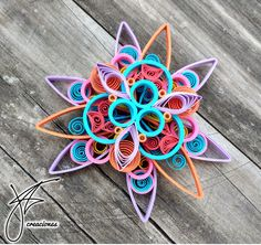 #Quilling stars made by #jorgefriascreaciones Bs. As. Argentina.