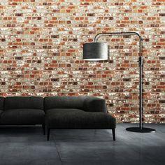 papier peint brique pour un salon de style industriel brick wallpapervinyl wallpaperwallpaper onlinebedroom - Brick Wallpaper Bedroom Ideas