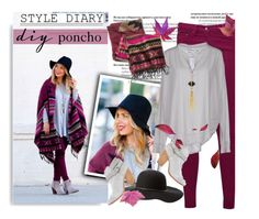 """""""Style Diary:DIY Poncho with Dashing Darling"""" by bamaannie ❤ liked on Polyvore featuring Great Plains, 81 Hours, rag & bone, Charlotte Russe, Panacea, CO, DIY, BloggerStyle and poncho"""