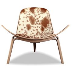 Kardiel Geniune Cowhide Walnut Tripod Lounge Chair