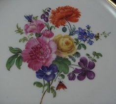 Rare-Antique-19thC-Meissen-Porcelain-Cobalt-Floral-Plate-Porzellan-Teller