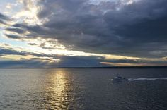 Block Island ferry sunset