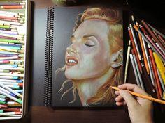 Desenho Artístico: Como pintar retrato com lápis de cor