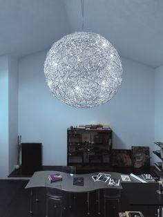 Catellani & Smith Fil de Fer Sospensione 70 cm Aluminium natur