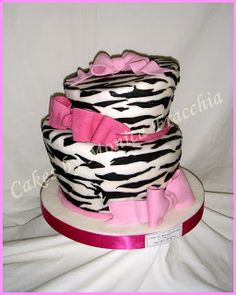 TORTA DECORADA DE ANIMAL PRINT CEBRA (VERSION III) | TORTAS CAKES BY MONICA FRACCHIA