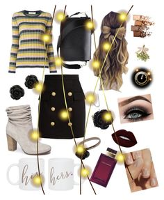 """""""Sweater Weather"""" by volitairia ❤ liked on Polyvore featuring Chinese Laundry, Balmain, Valentino, Lime Crime, Dolce&Gabbana, ASAP, SoGloss and Maybelline"""