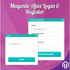 Ajax Login & Register Extension for Magento enable quick access to your Login and Register pages