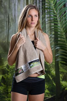 bedruckter Sportschal 30x130cm Sport, Sweaters, Tops, Fashion, Moda, Deporte, Fashion Styles, Sports, Sweater
