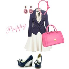 Preppy, created by kali-17 on Polyvore