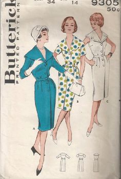 1960s Slim Sheath Dress with Cape Collar Butterick by Redcurlzs
