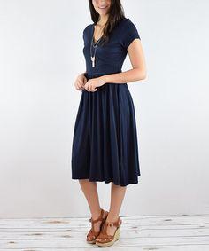 Look what I found on #zulily! Navy Wrap Dress #zulilyfinds