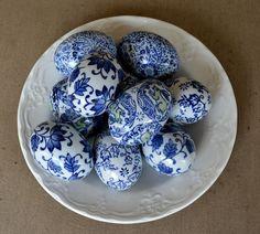 lovely printed ceramic eggs