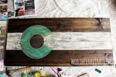 Worth Pinning: Colorado Flag Wood Sign