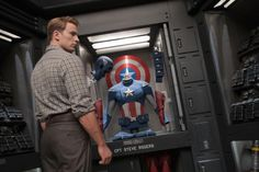Captain America prepares to suit up.