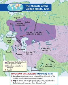 The Khanate of the Golden Horde, 1294