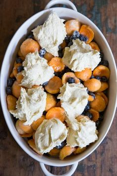 Blueberry Apricot Cobbler Recipe (with marzipan)