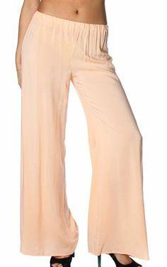 Pinkclubwear Solid Mint / Pink / White Linen Stretch Waist Wide Leg Palazzo Pants (Small, Peach) Pink Clubwear, Wide Leg Palazzo Pants, Pink White, Capri, Peach, Pajama Pants, Pajamas, Mint, Leggings