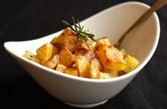 Roast Potatoes Two Ways: Polenta-Crusted and Rosemary Hash Browns..yum!