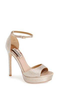 Badgley Mischka 'Retro II' Ankle Strap Platform Sandal (Women) available at #Nordstrom