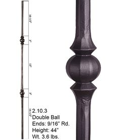 Features The single sphere round hammered iron baluster features a single 3 inch sphere on a inch round hammered solid bar Specifications Iron Collection: Tuscany Round Series Bar Type: Iron Stair Balusters, Wrought Iron Stairs, Banisters, Cheap Stair Parts, Parts Of Stairs, Traditional Style Homes, Corrugated Metal, Cross Reference, Vegetable Gardening
