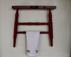 I have a half chair part like this, and I love this idea for a towel rack, looks like my next project!