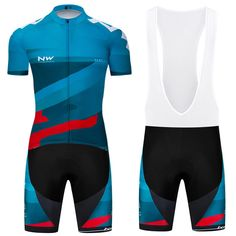 b8f457450 Mens Sports Wear Team Cycling Jersey Bib Sets Bike Bicycle Short Sleeve  Clothing  Unbranded Bike