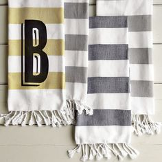 Hammam Stripe Hand Towel | west elm
