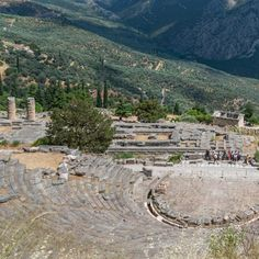 Ruins of an amphitheater in Delphi, צילום: MARIA MAVROPOULOU / NYT