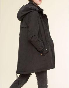 Pull&Bear - donna - cappotti - parka morbido con cappuccio - piombo - 09752316-V2016