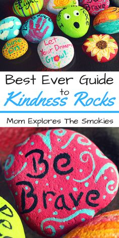 Spread the love with the new kindness craze: kindness rocks. Find them in Knoxville, Maryville, Sevierville, Pigeon Forge, Gatlinburg, and East Tennessee.