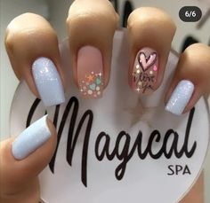 Square Nail Designs, Nail Art Designs, Gelish Nails, My Nails, Great Nails, Manicure E Pedicure, Classy Nails, Cute Acrylic Nails, Square Nails