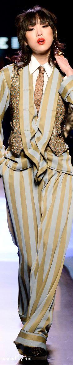 Jean Paul Gaultier Spring 2016 Couture l Ria, Samo njemu mogu da oprostim devojku u pantalonama...