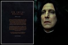 Read Alan Rickman's emotional goodbye letter to Harry Potter fans and author JK Rowling - Mirror Online